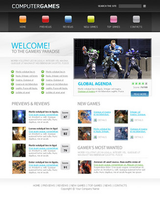 Product picture Games Website Template