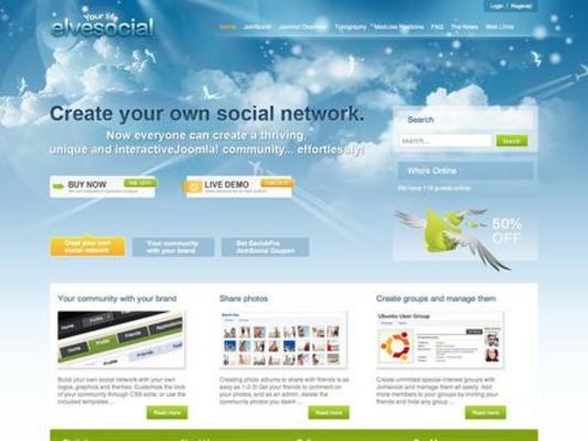 Product picture GavickPro elveSocial Joomla template