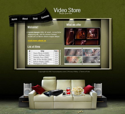 Product picture Flash Template - Video Store
