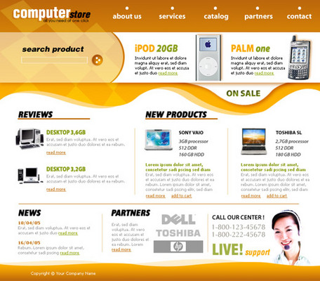 Product picture Computer Store HTML Template